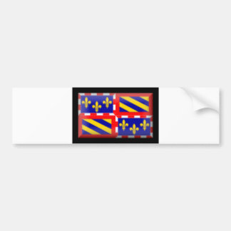 France-Bourgogne Flag Bumper Sticker