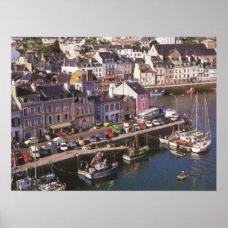 France, Bretagne, Belle Ile en Mer, moorings Poster