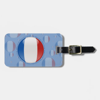 France Bubble Flag Luggage Tag