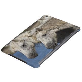 France, Camargue. Horses run through the iPad Air Covers