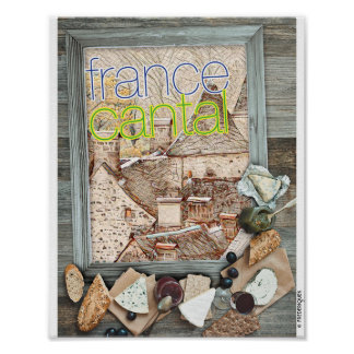 FRANCE CANTAL POSTER