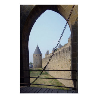 France - Carcassonne - Gateway bridge  Poster