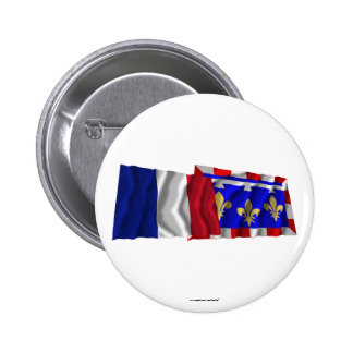 France Centre waving flags Pins