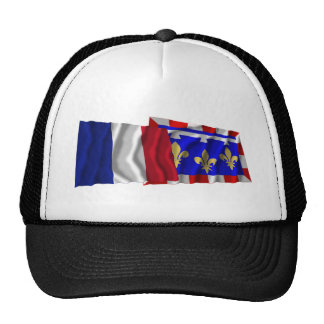France & Centre waving flags Hat