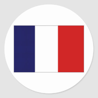 France Civil and Naval Ensign Classic Round Sticker