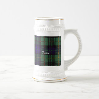 France clan Plaid Scottish kilt tartan Beer Stein