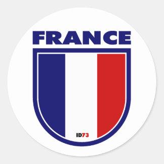 France Classic Round Sticker