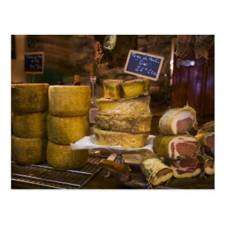 France, Corsica. Local cheeses and charcuterie Postcard