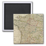 France Divided into Circles and Departments 2 Magnet