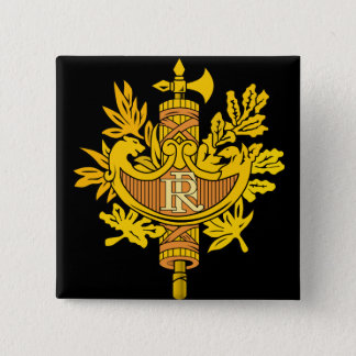 france emblem 2 inch square button