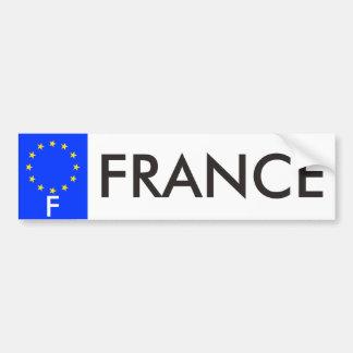 France European Union License Plate Bumper Sticker