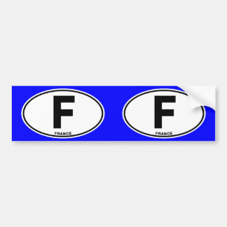 France F Oval International Identity Code Letters Bumper Sticker