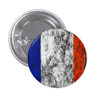 france flag 1 inch round button
