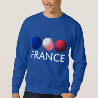 France Flag Blue, White and Red Spheres Sweatshirt
