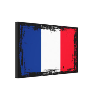 France Flag Canvas Print