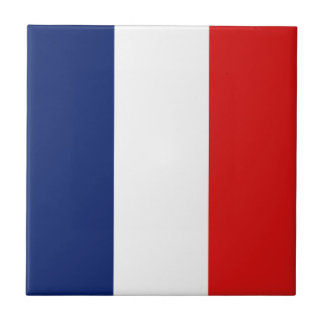 France Flag Ceramic Tile