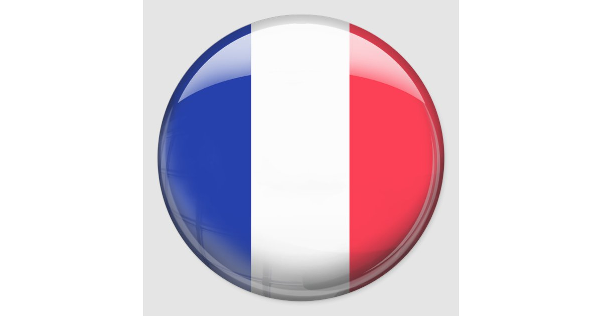 France flag classic round sticker zazzle ca