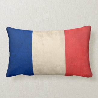 France Flag Distressed Pillow - French