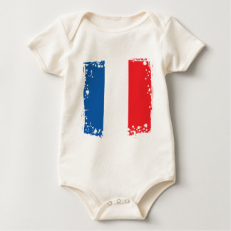 France Flag, French Colors Cloth for a Baay Baby Bodysuit
