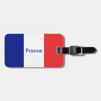 France flag French Luggage Tags