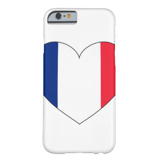France Flag Heart Barely There iPhone 6 Case