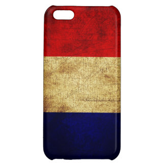 France Flag in Grunge iPhone 5C Case