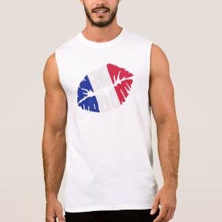 France flag kiss sleeveless shirt