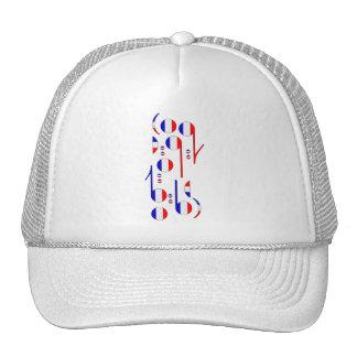 France Flag Musical Notes Mesh Hat