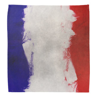 France Flag Paint Grunge Design Do-rag