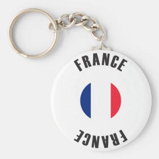 France Flag Wheel Basic Round Button Keychain