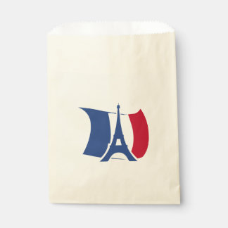 France flag with Eiffel Tower Favour Bag