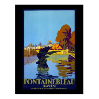 France Fontainebleau Avon Postcard