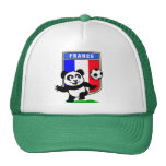 France Football Panda Trucker Hat