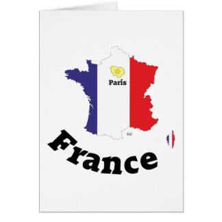 France - France greeting map Card