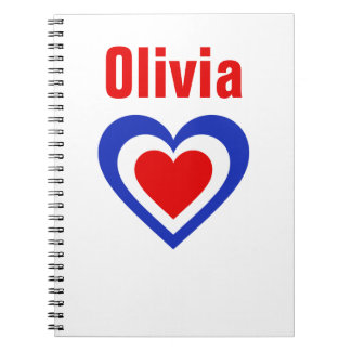 France/French flag-inspired Personnalised Notebook