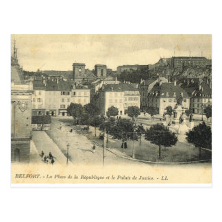 France, French Vintage Belfort, Palais de Justice Postcard