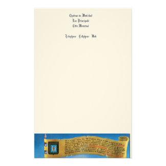 France, French vintage Medieval Carcassonne Stationery Paper