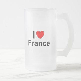 France Frosted Glass Beer Mug