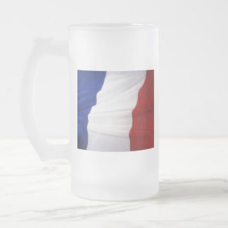 FRANCE FROSTED GLASS BEER MUG