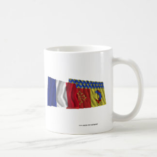 France & Hautes-Alpes waving flags Coffee Mug