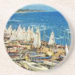 France, Hyeres, Var, Port and Marina Beverage Coasters