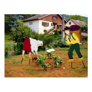 France, Jura, Pupillon, Figures in the vineyard Postcard