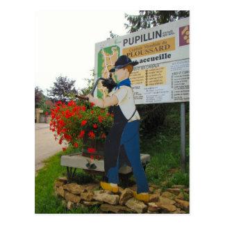 France, Jura, Pupillon, VIllage sign Postcard