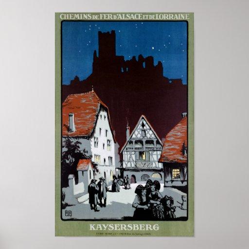 France Kaysersberg Restored Vintage Travel Poster