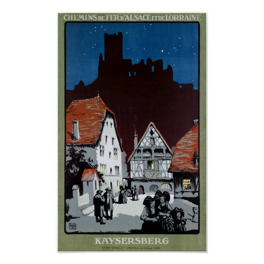 France Kaysersberg Restored Vintage Travel Poster