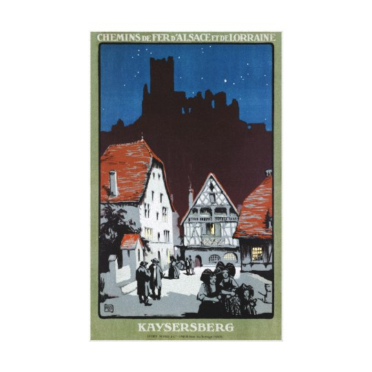 France Kaysersberg Restored Vintage Travel Poster Canvas Print