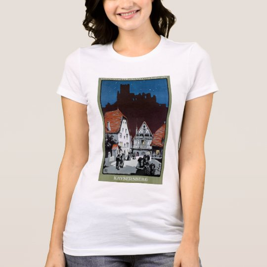France Kaysersberg Restored Vintage Travel Poster T-Shirt
