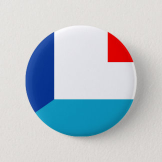 france luxembourg flag country half symbol 2 inch round button