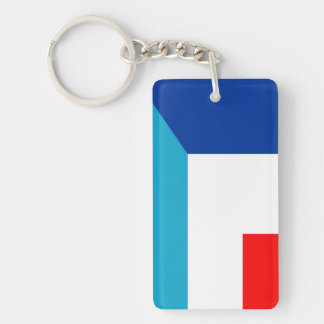 france luxembourg flag country half symbol keychain