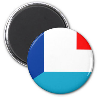 france luxembourg flag country half symbol magnet